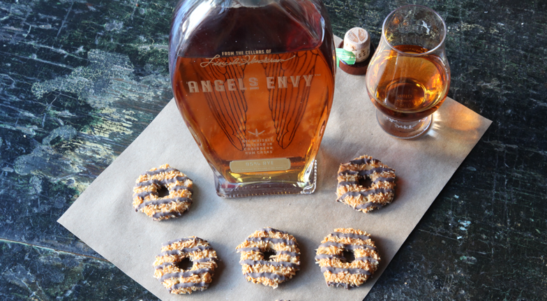 Bourbon and Girl Scout Cookies - Caramel deLites and Angel's Envy Rye