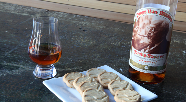 Bourbon and Girl Scout Cookies - Shortbreads and Pappy Van Winkle 20 Year